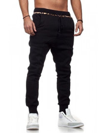 Jogging sarouel homme noir slim fashion
