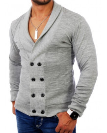 Pull laine homme gris leger fashion