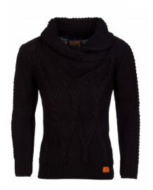 Pull laine homme noir original fashion