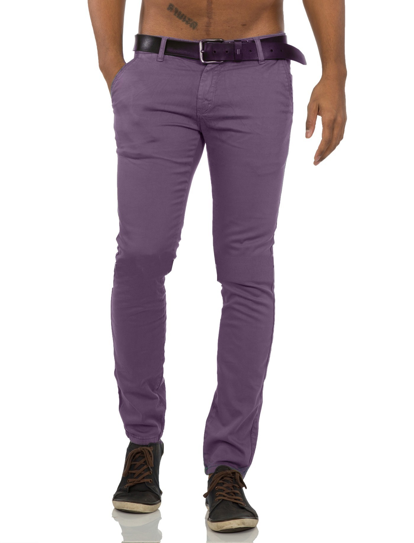 pantalon chino homme violet pas cher. Black Bedroom Furniture Sets. Home Design Ideas
