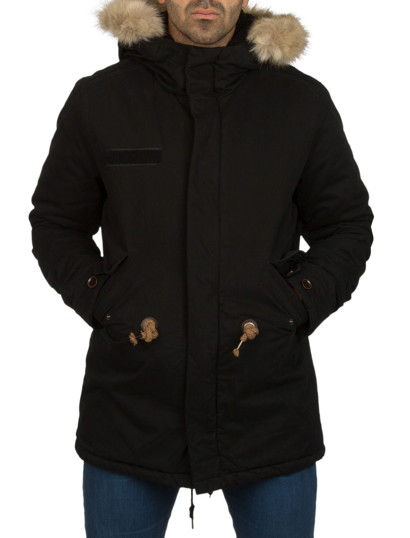 manteau parka homme noir oversize. Black Bedroom Furniture Sets. Home Design Ideas